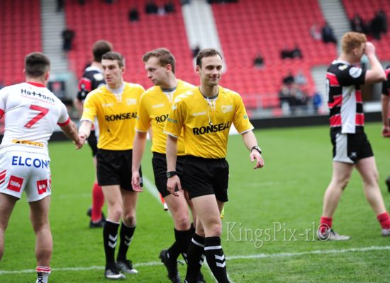Denton Arnold - Refereeing Saints v Hull U19s. Photo by Kings Pix.