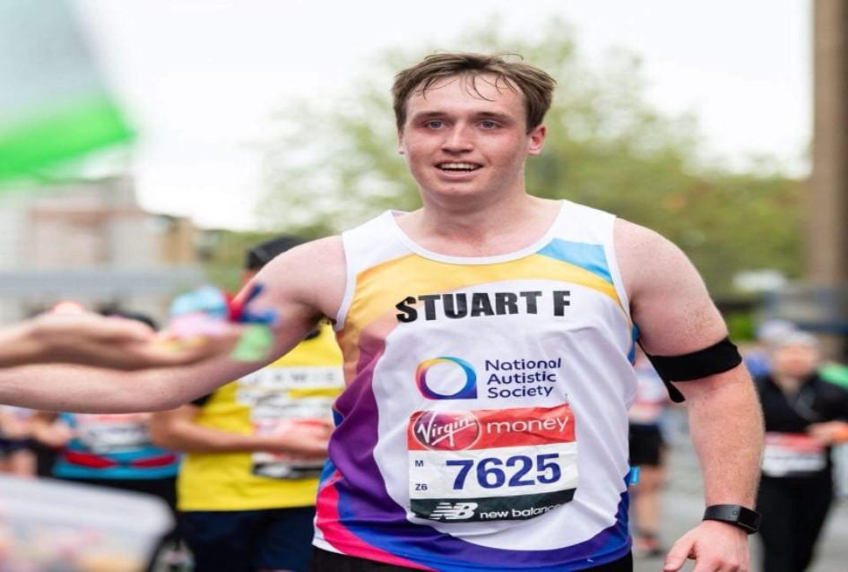 Stuart Fraser running in the 2019 London Marathon